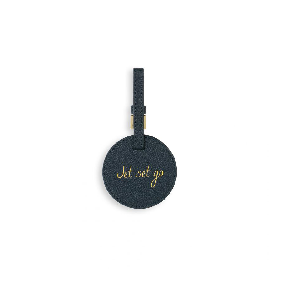Image For Katie Loxton - Luggage Tag Navy - Jet Set Go