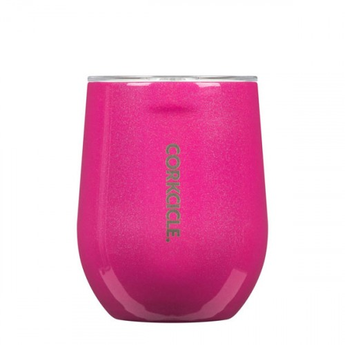 Image For Corkcicle - 12 oz. Stemless - Pink Dazzle