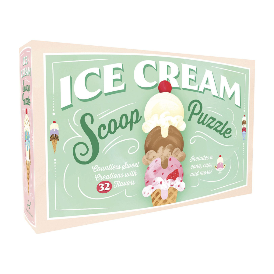 Image For Chronicle Books - Ice Cream Scoop - Puzzle