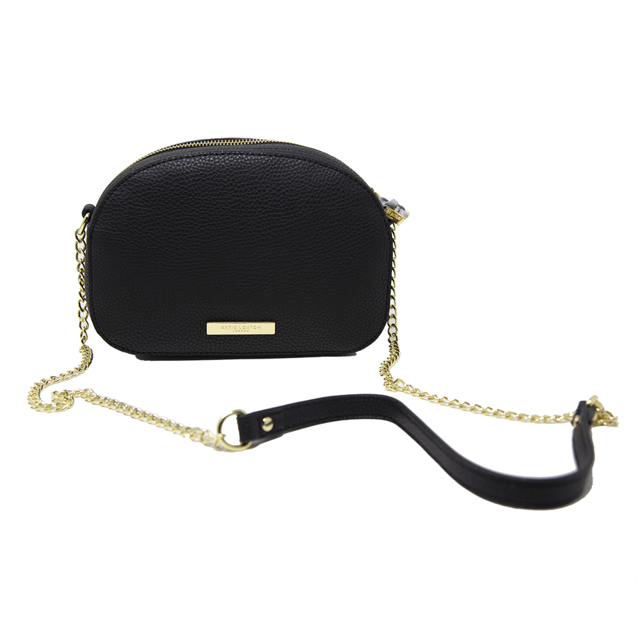 Image For Katie Loxton - Half Moon Bag - Black