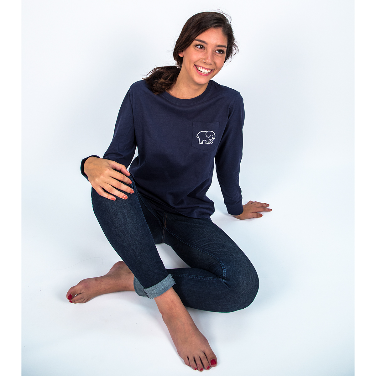 Image For Ivory Ella - Long Sleeve T-Shirt - Squiggles Navy