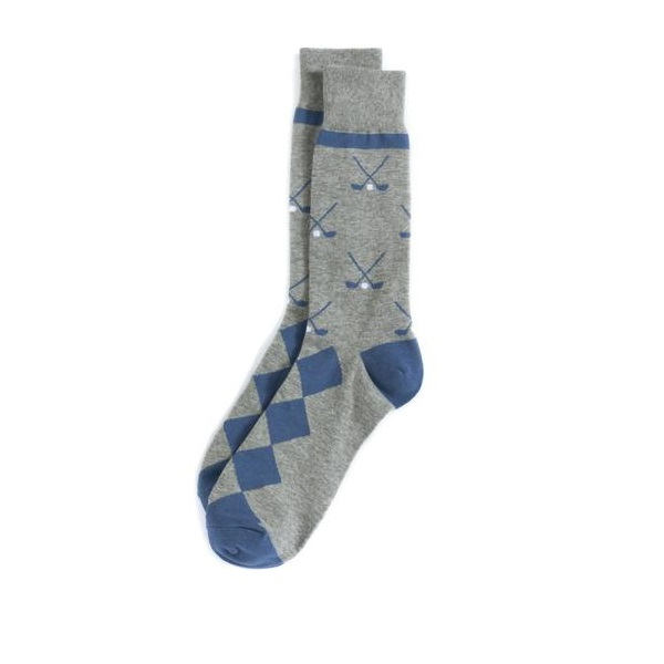 Image For Shiraleah - Men's Mid-Calf Length Socks - Golf