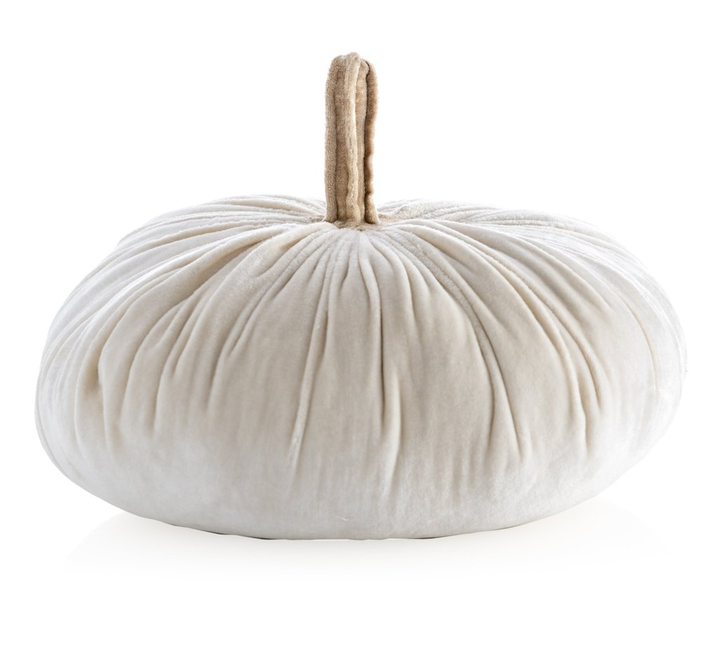 Image For Shiraleah - Pumpkin Pillow Large - Ivory