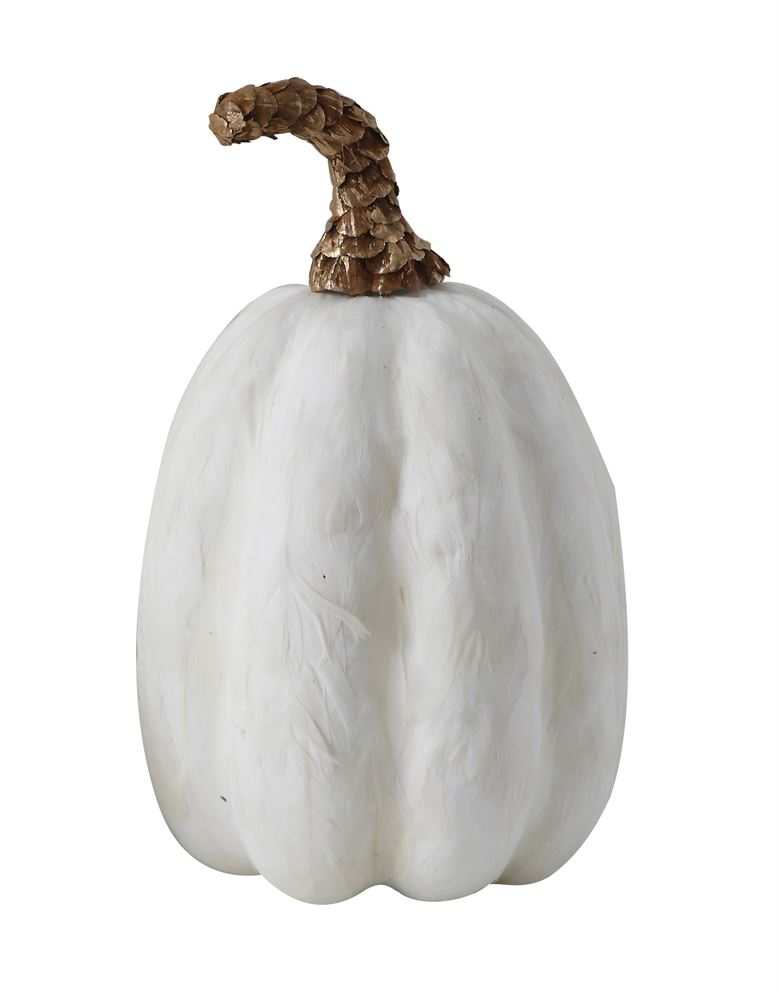 Image For Creative Co-Op - Feather Pumpkin - Tall
