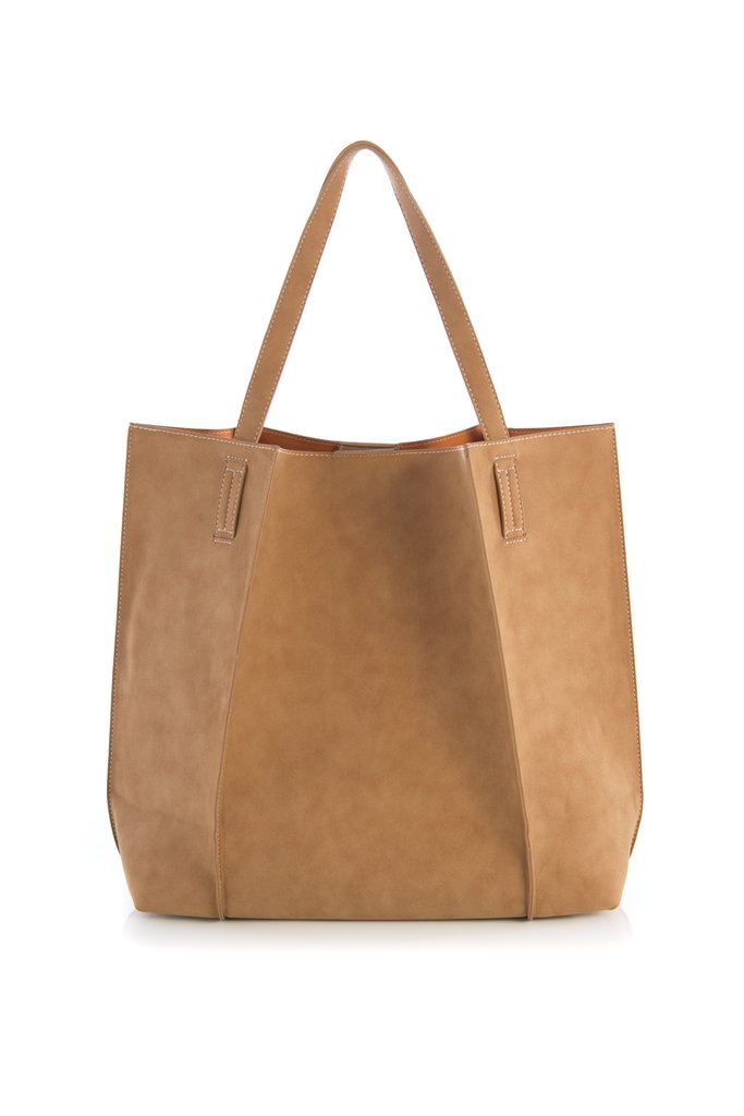 Image For Shiraleah - Large Blair Tote Bag - Tan