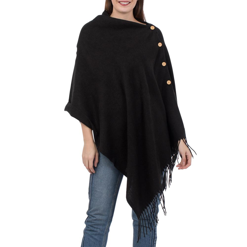 Cover Image For Top it Off - Poncho - Black