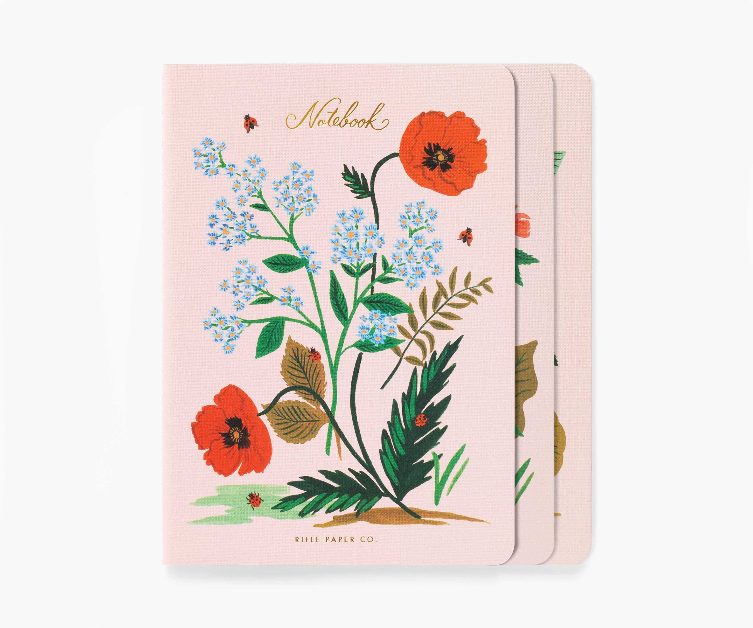 Image For Rifle Paper Co - Stiched Notebook Set - Botanical