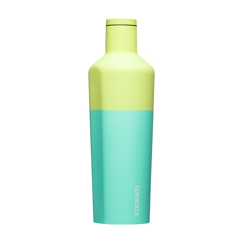 Cover Image For Corkcicle - 25 oz. Canteen - Color Block Limeade