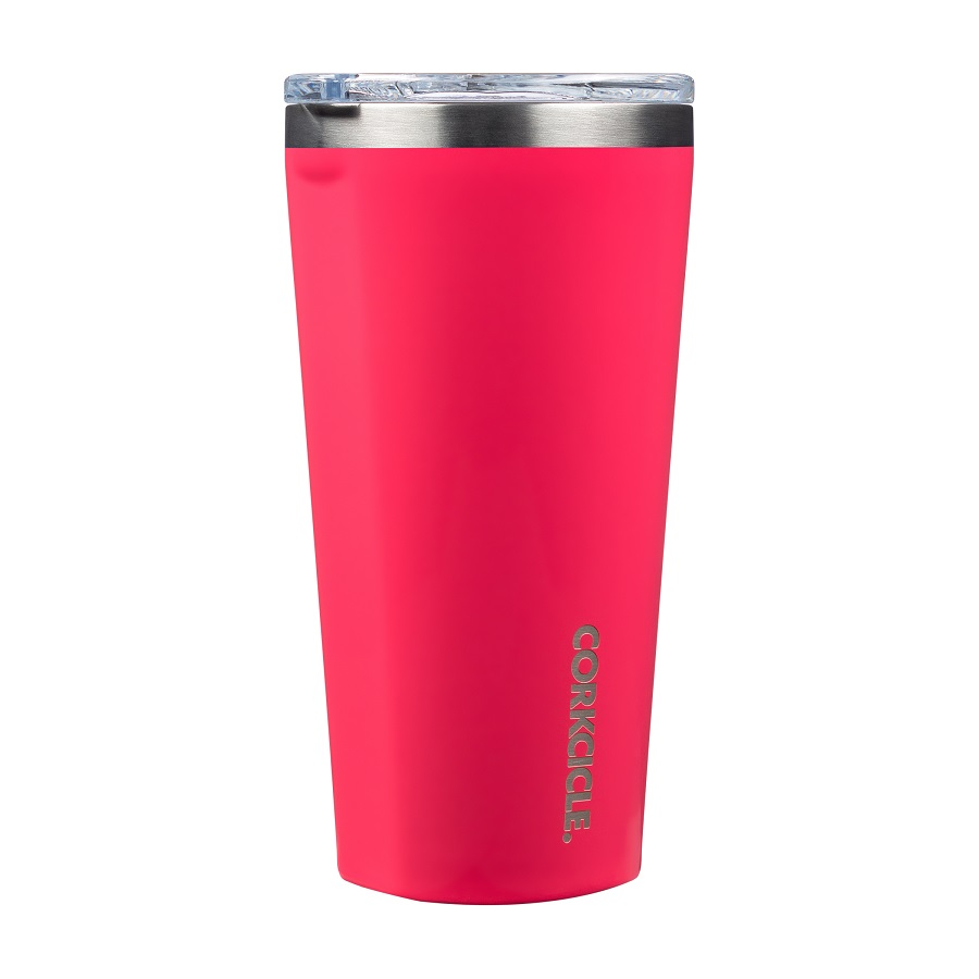 Image For Corkcicle - 16 oz Tumbler - Gloss Flamingo