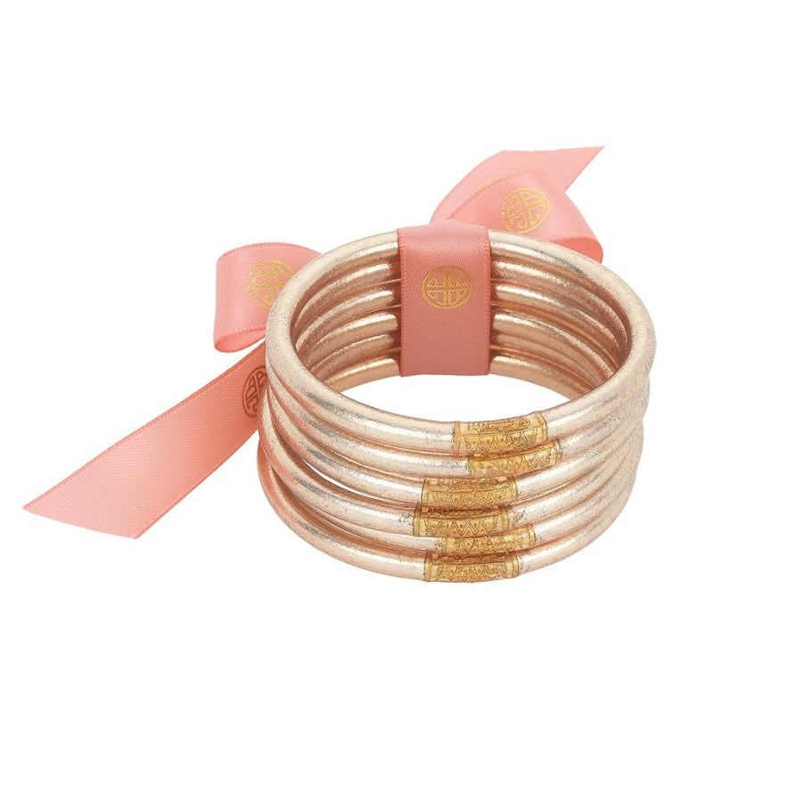 Image For BuDhaGirl – All Weather Bangles – Champagne - Medium