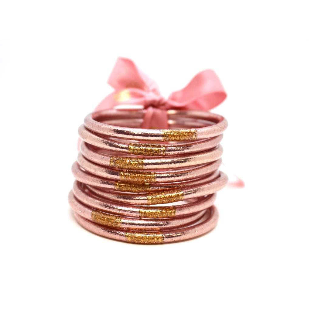 Image For BuDhaGirl – All Weather Bangles – Rose - Large