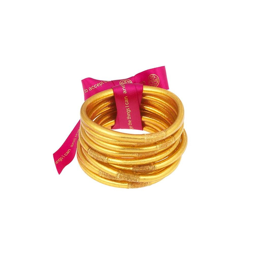 Image For BuDhaGirl – All Weather Bangles – Gold - Small