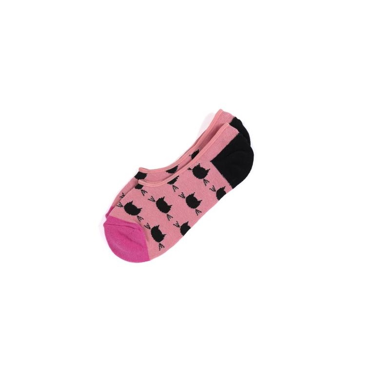 Image For Shiraleah - No-Show Socks - Kitty Pink