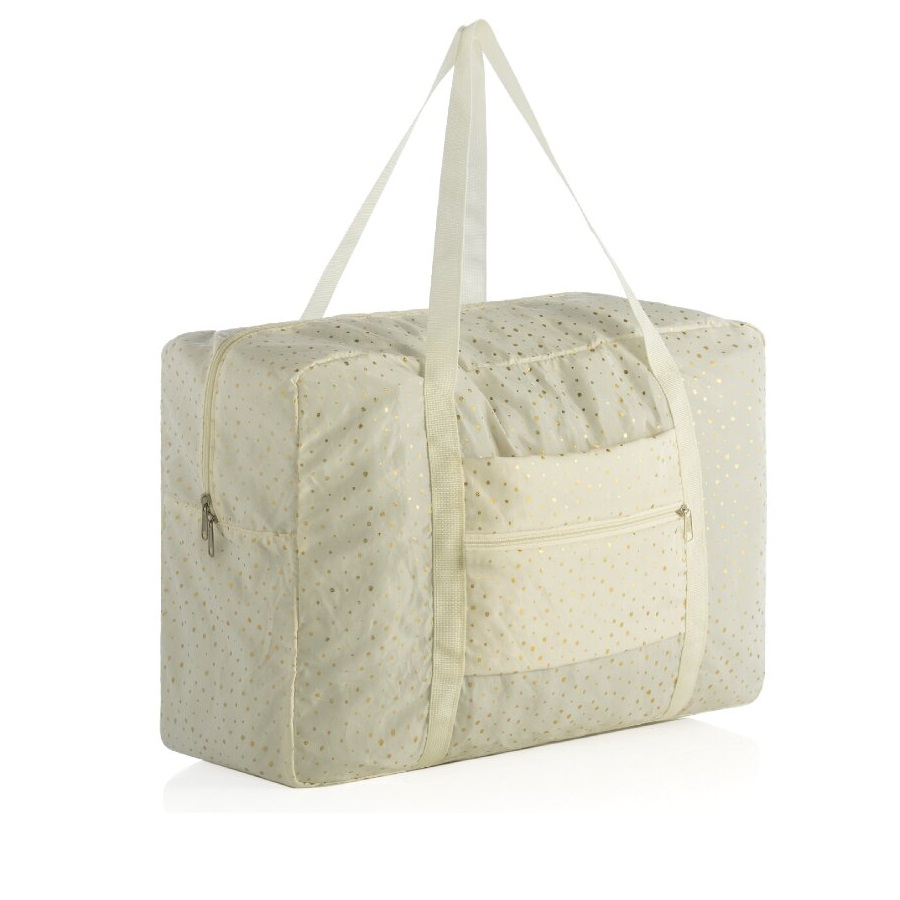 Image For Shiraleah - Travel Accessories - Alba Foldable Bag Ivory