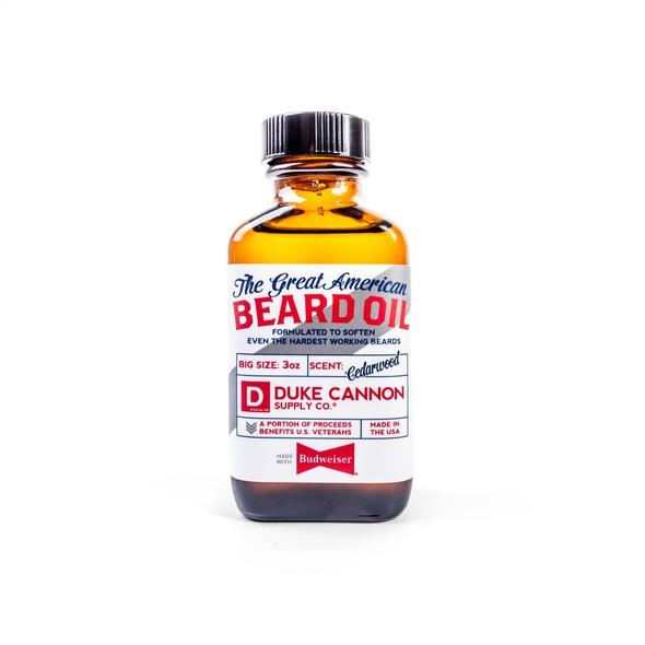 Image For Duke Cannon – Beard Oil – Budweiser