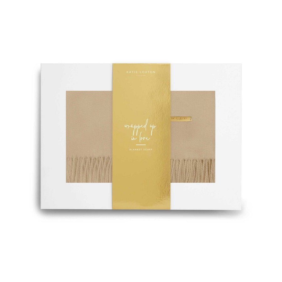 Image For Katie Loxton - Boxed Scarf - Camel