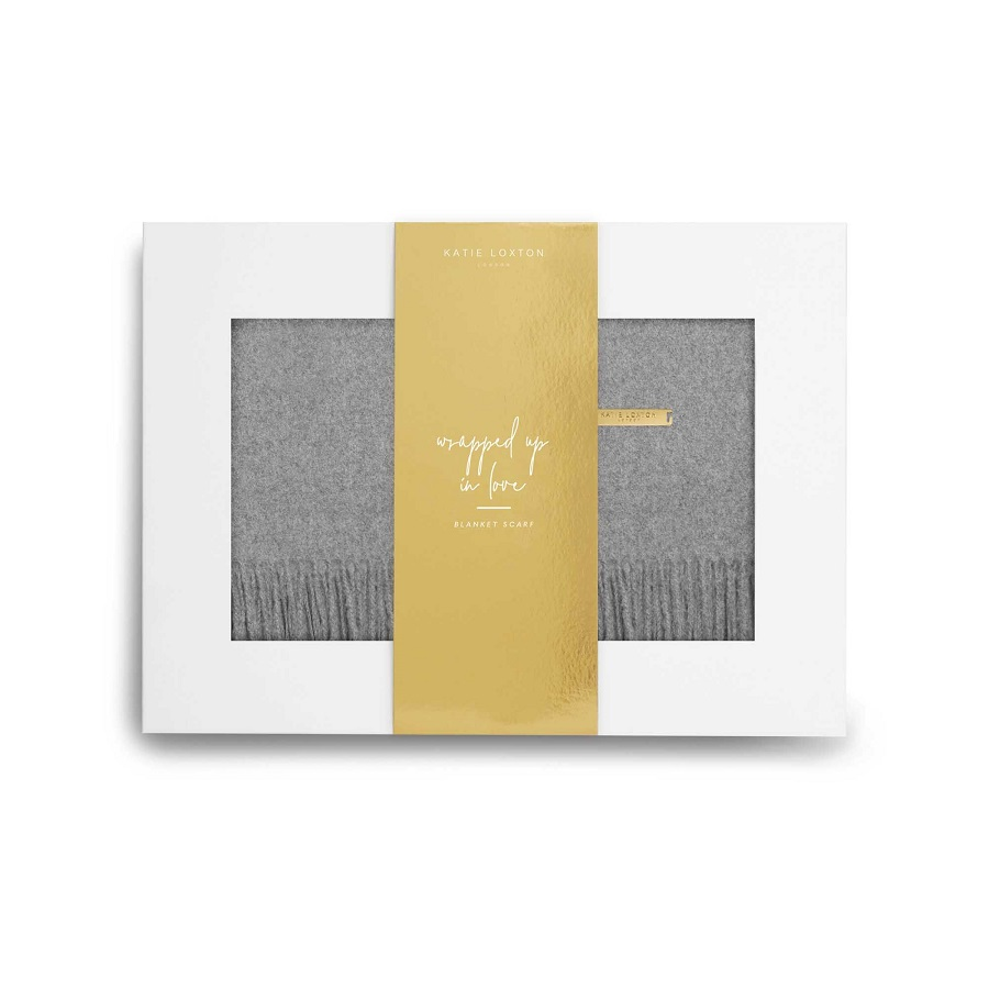 Image For Katie Loxton - Boxed Scarf - Grey