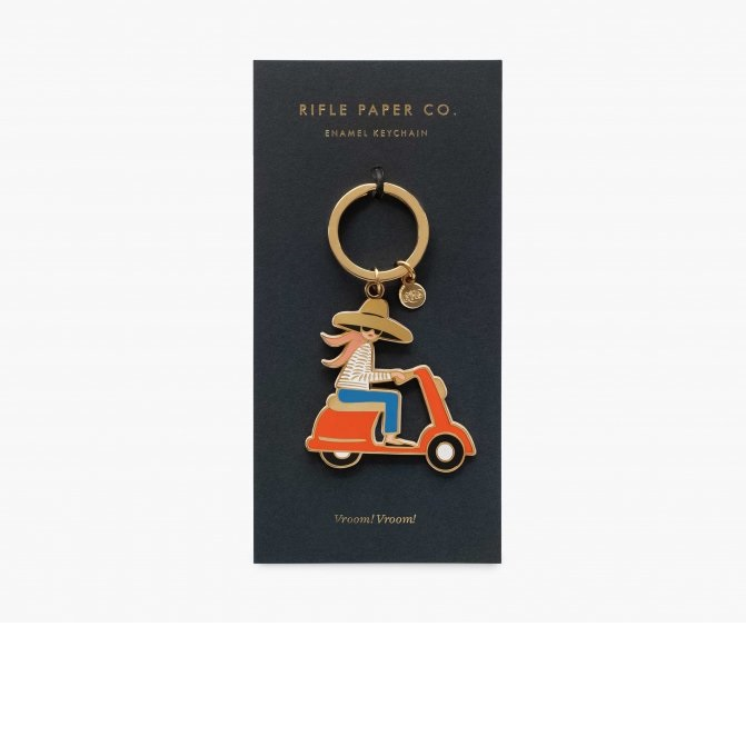 Image For Rifle Paper Co - Keychain – Scooter
