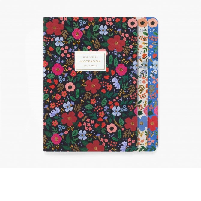 Image For Rifle Paper Co – Three Notebook Set – Wild Rose