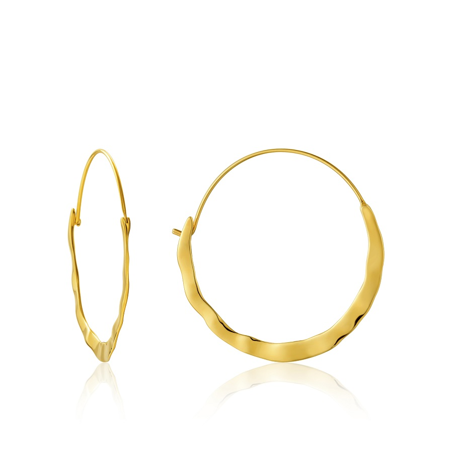 Image For EARRINGS CURSH HOOP GOLD