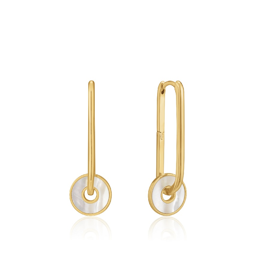 Image For EARRINGS DISC HOOP