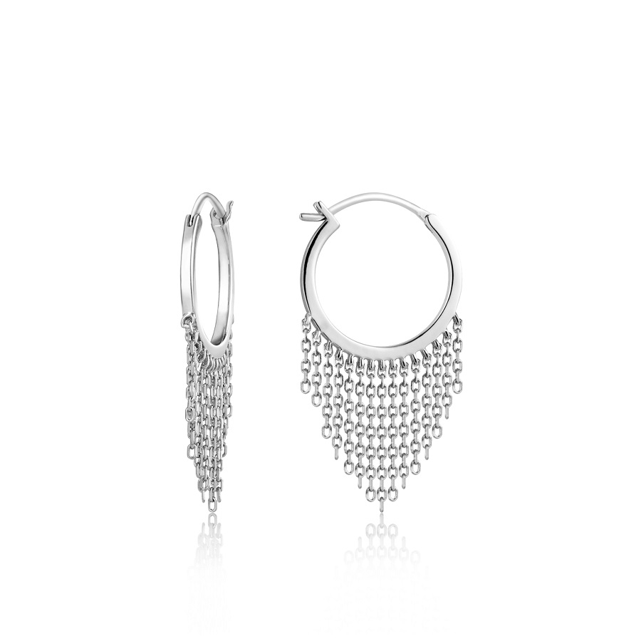 Image For Ania Haie - Earrings - Fringe Fall - Silver
