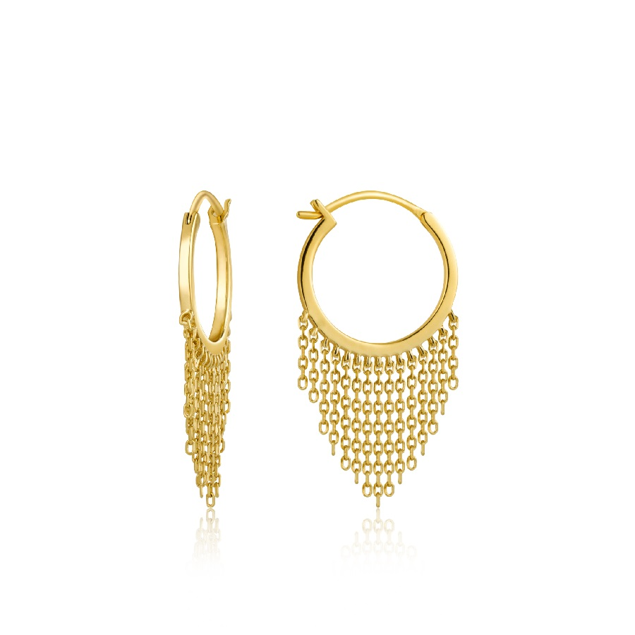 Image For Ania Haie - Earrings - Fringe Fall - Gold