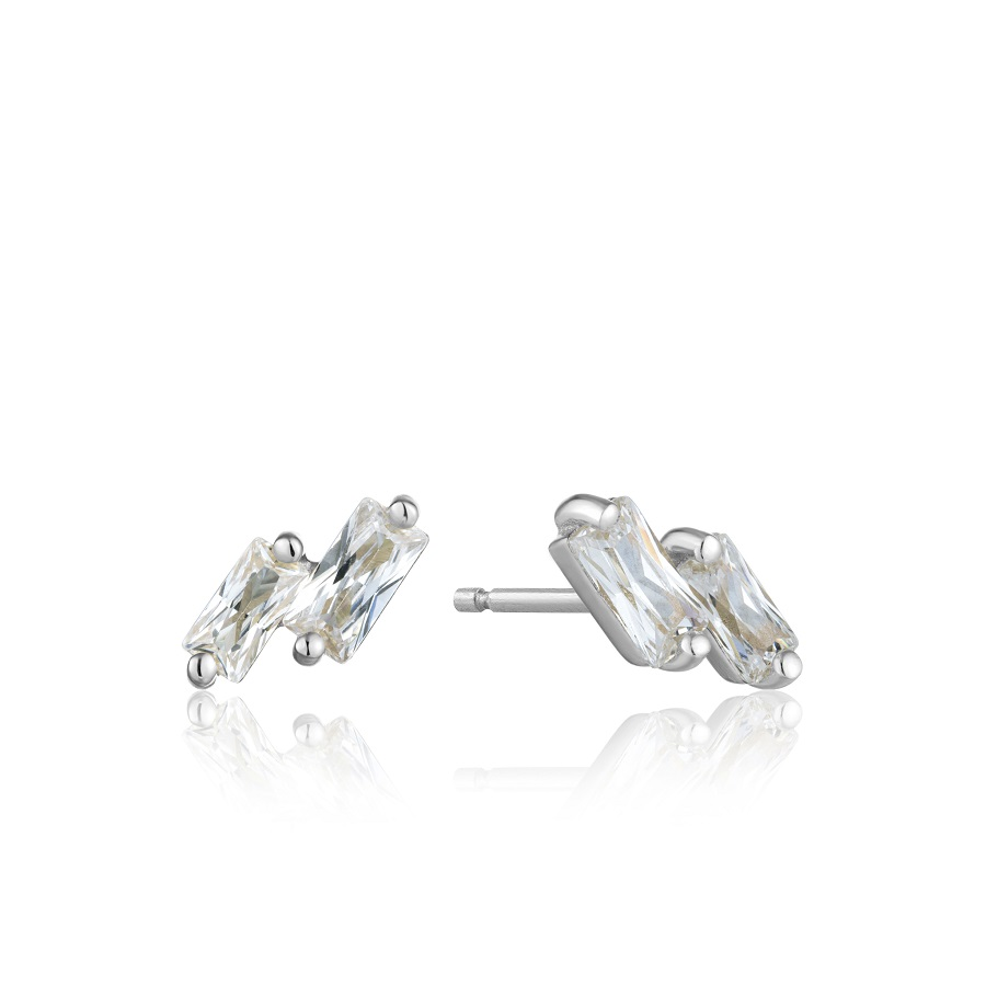 Image For EARRINGS GLOW STUD SILVER