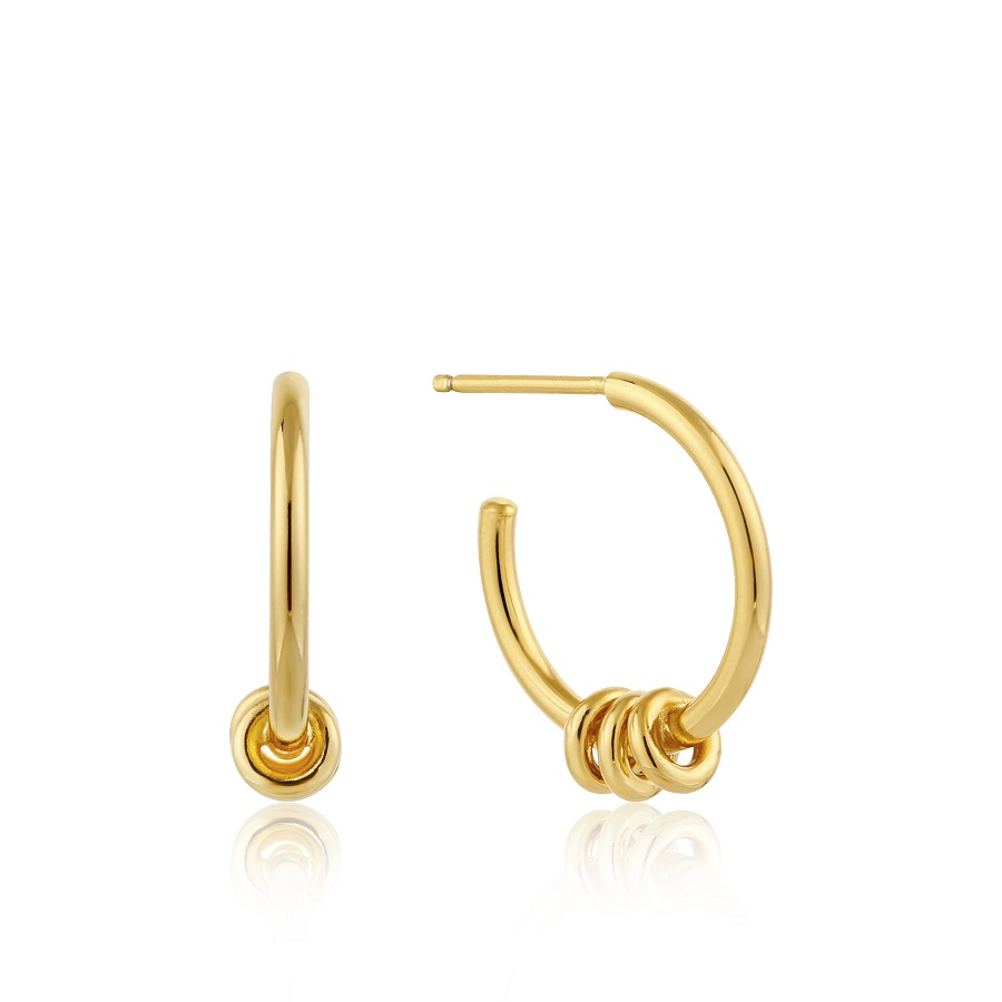Image For Ania Haie - Earrings - Modern Hoop - Gold