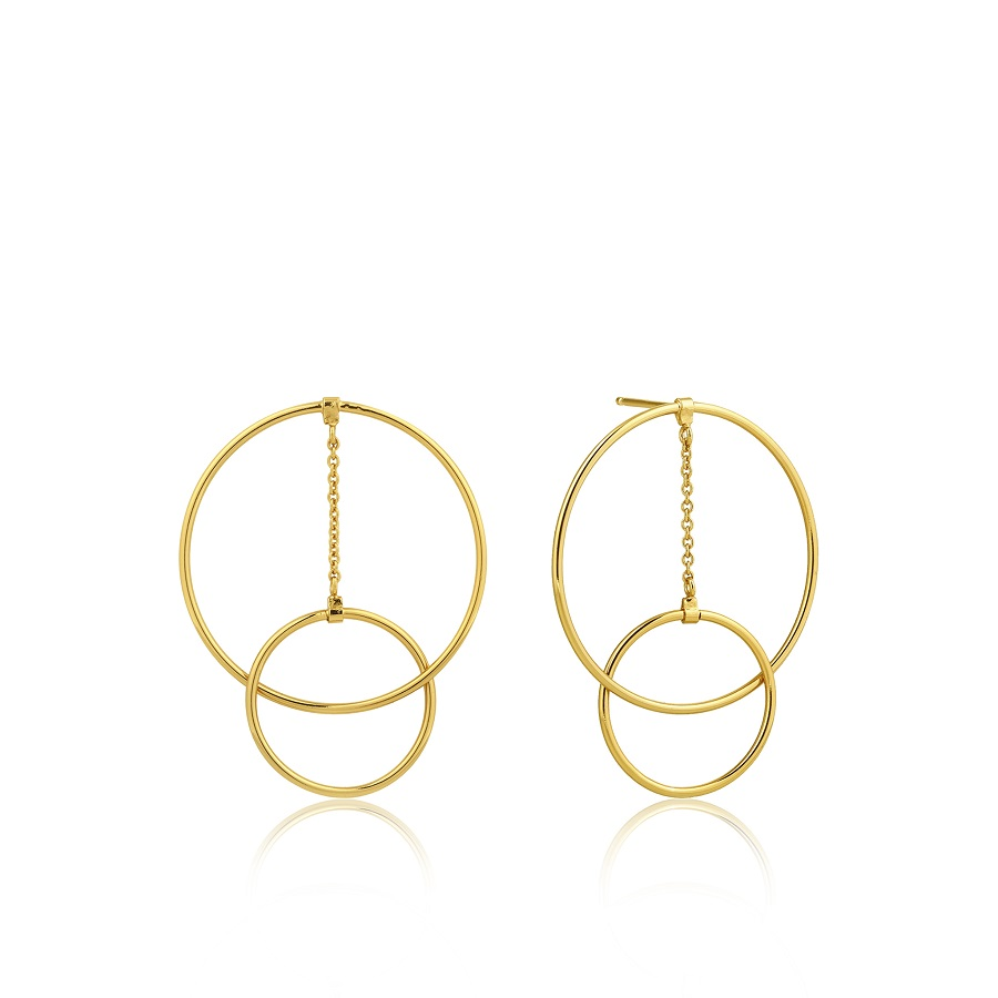 Image For Ania Haie - Earrings - Modern Front Hoop - Gold