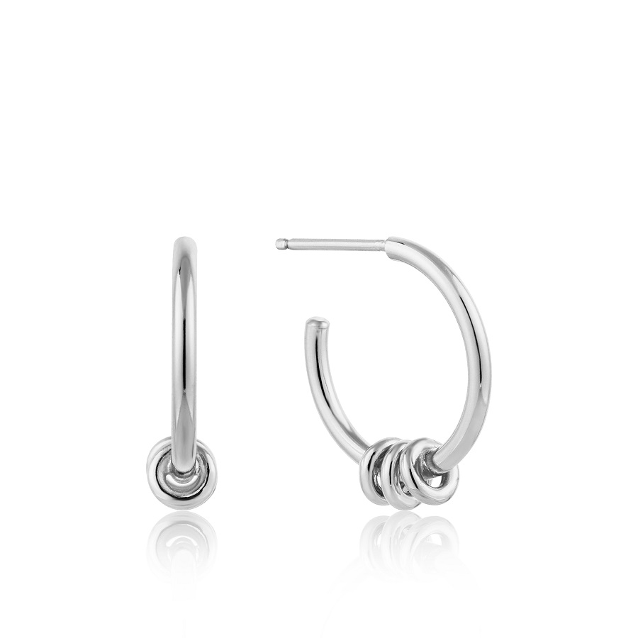 Image For Ania Haie - Earrings - Modern Hoop - Silver