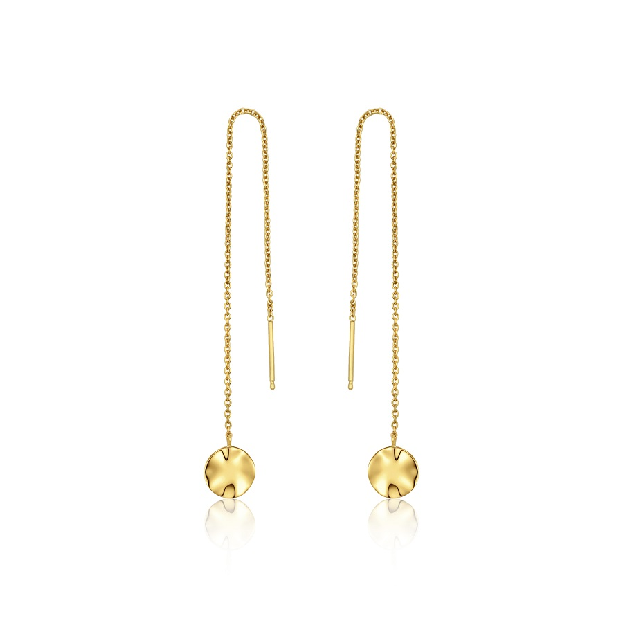 Image For Ania Haie - Earrings - Ripple Threader - Gold