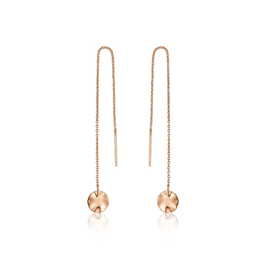 Image For Ania Haie - Earrings - Ripple Threader - Rose Gold