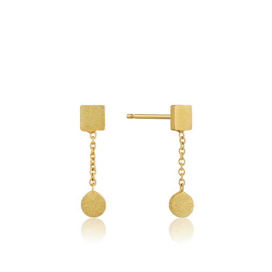 Image For Ania Haie - Earrings - Two Shape Drop - Gold