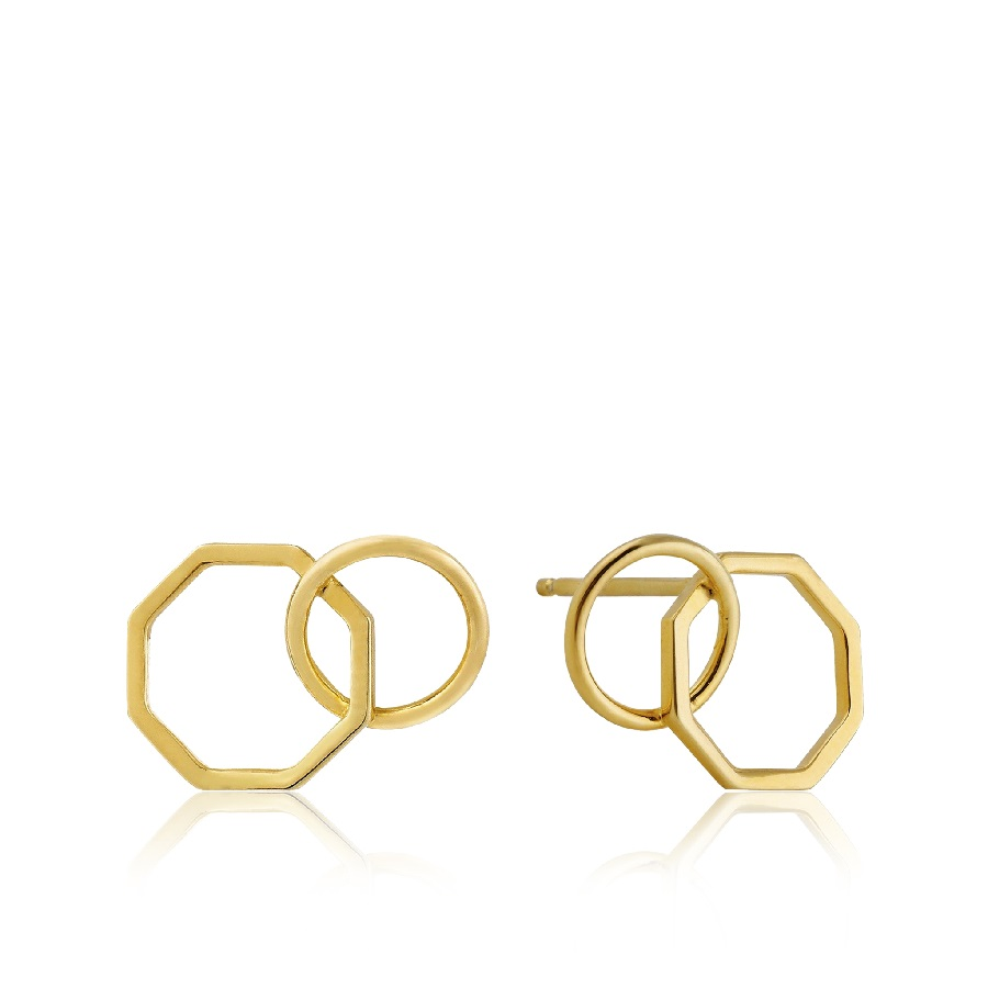 Image For Ania Haie - Earrings - Two Shape - Gold