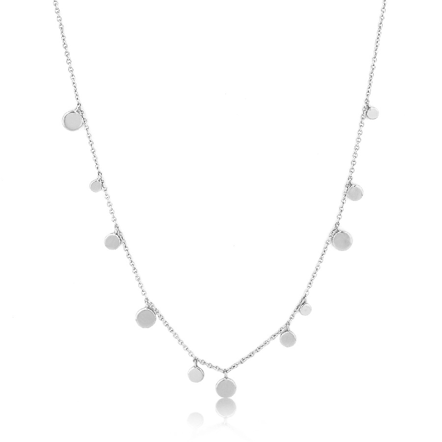 Image For Ania Haie - Necklace - Geometry Mixed Discs - Silver