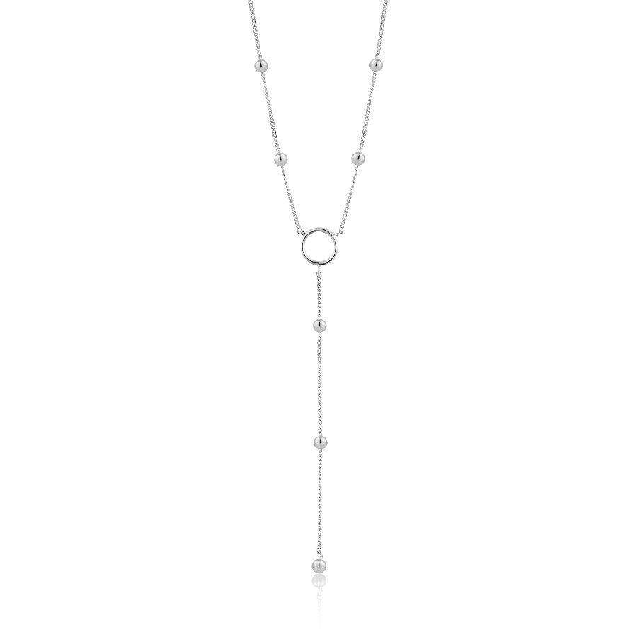 Image For Ania Haie - Necklace - Modern Circle Y - Silver