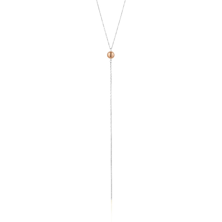 Image For Ania Haie - Necklace - Orbit Y - Silver