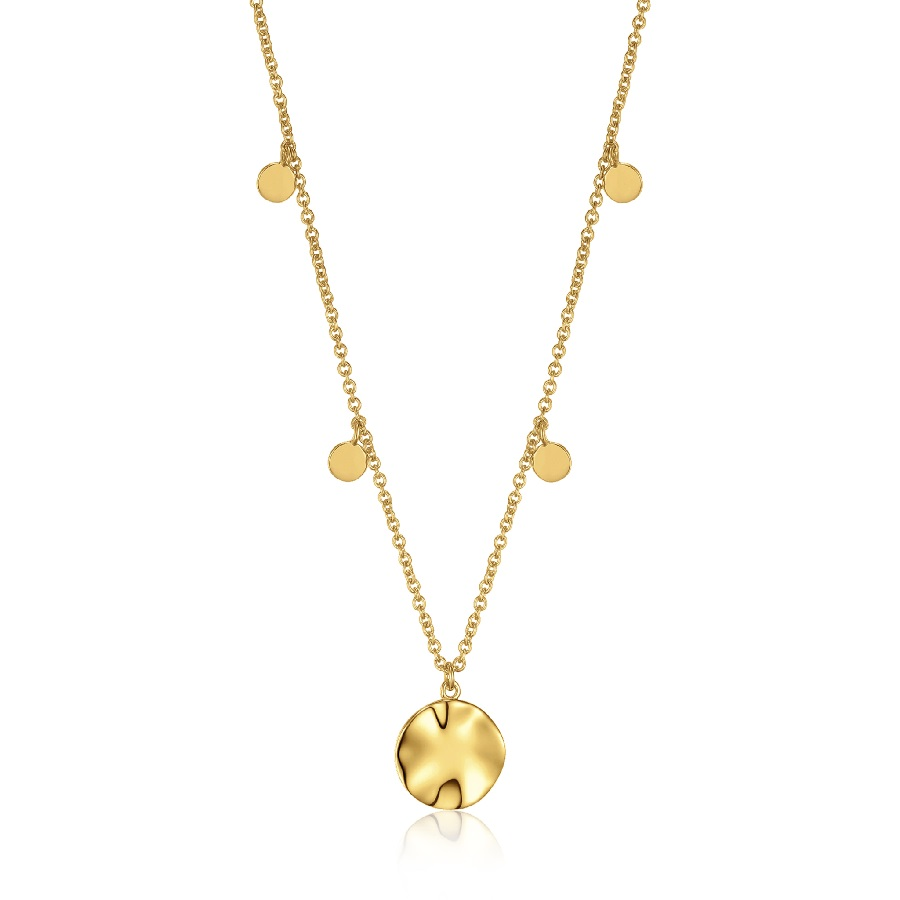 Image For Ania Haie - Necklace - Ripple Drop Discs - Gold