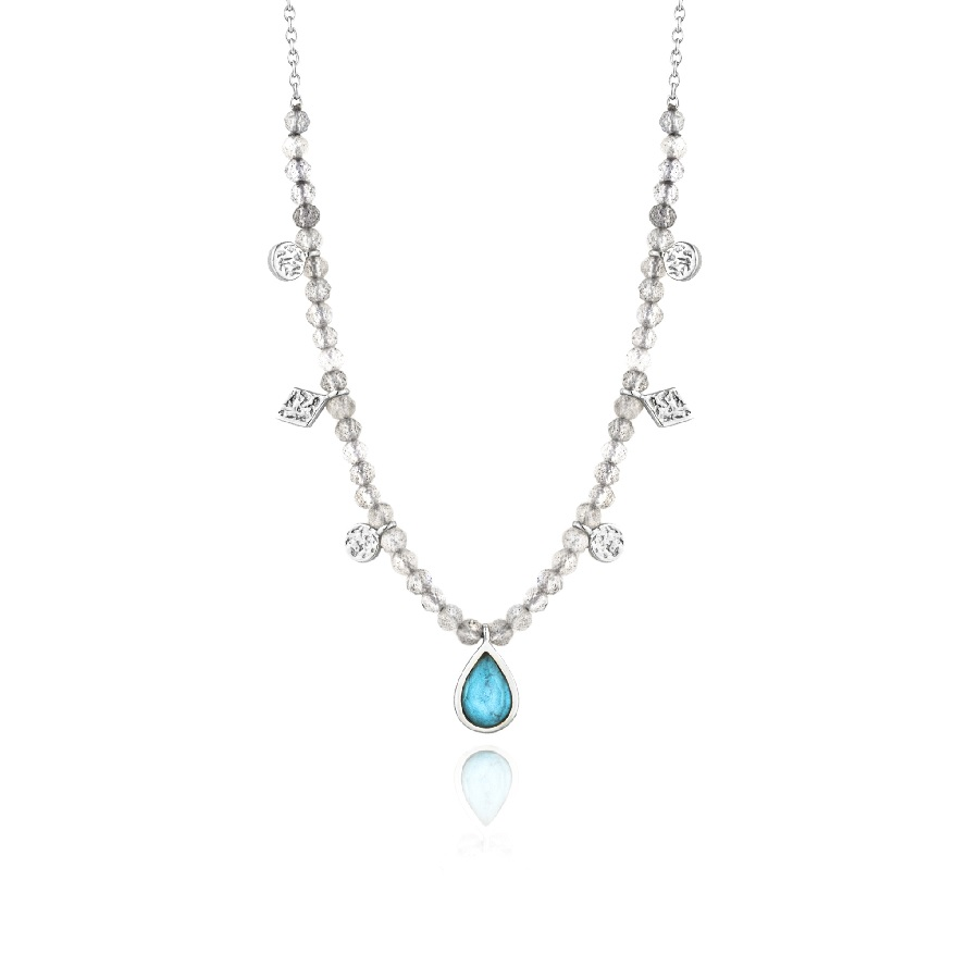 Cover Image For Ania Haie - Necklace - Turquoise Labradorite - Silver