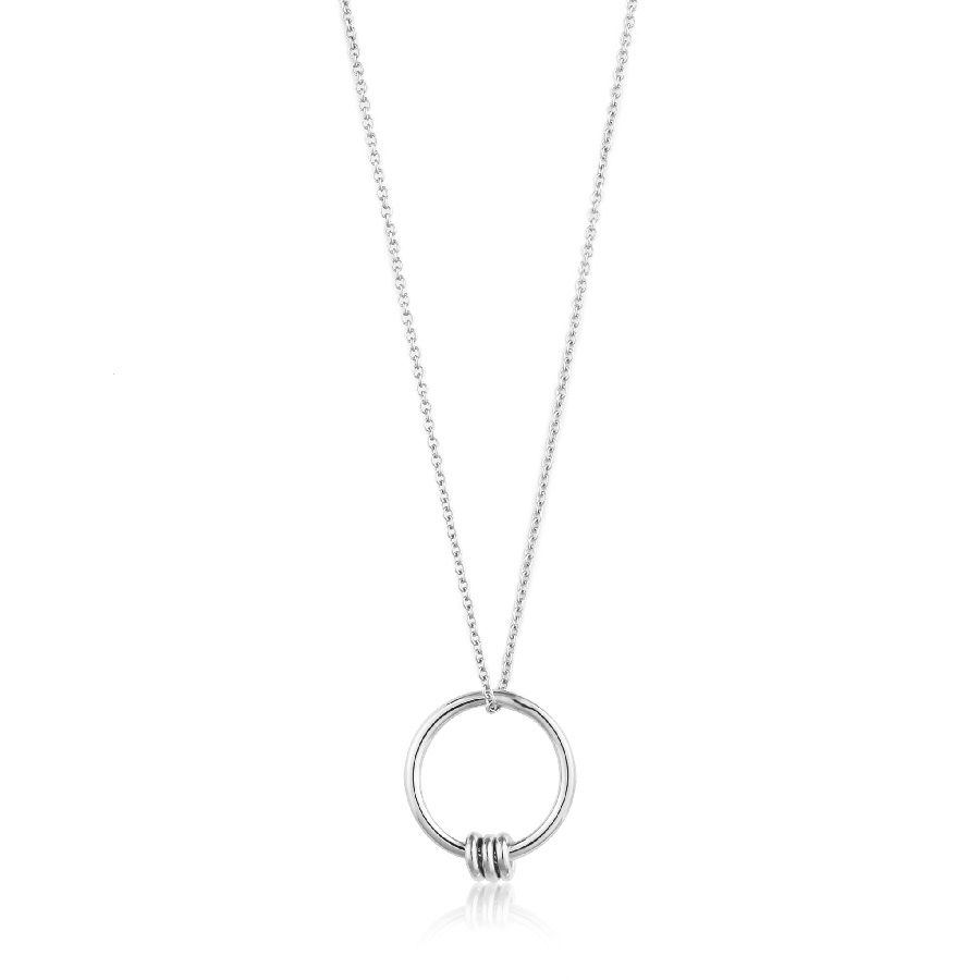 Image For Ania Haie - Necklace - Modern Circle - Silver