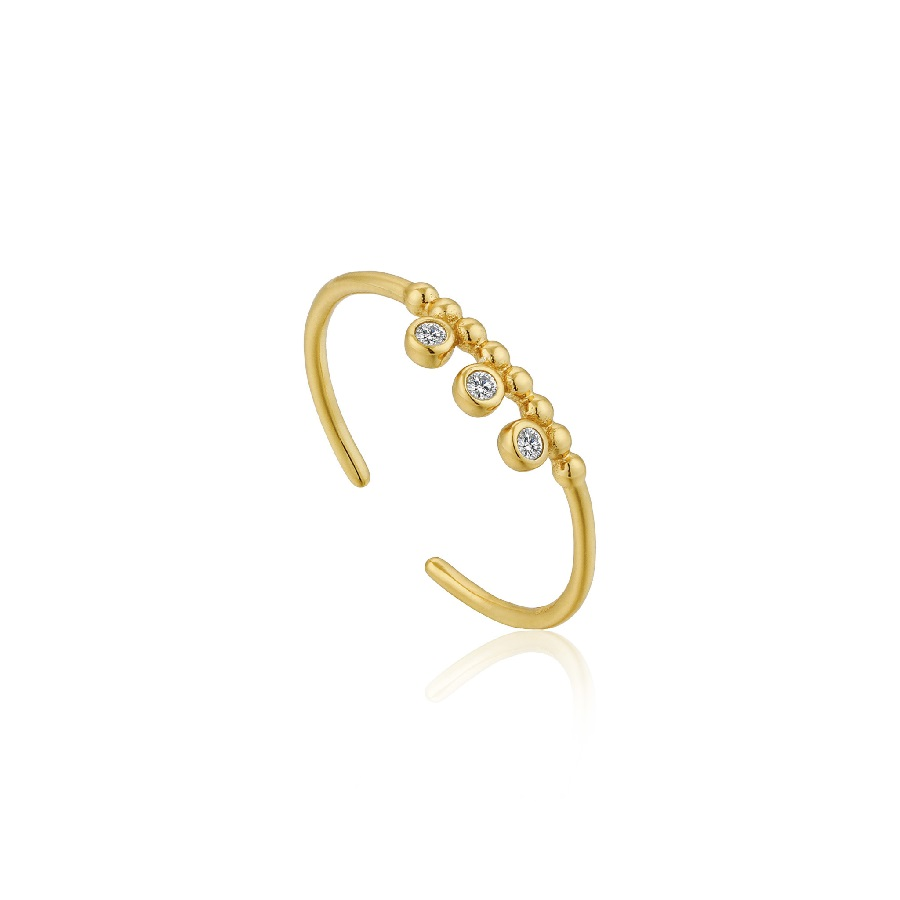 Image For Ania Haie - Ring - Shimmer Triple Stud - Gold