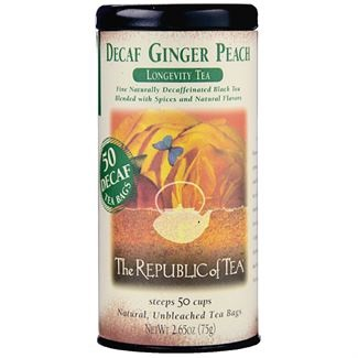 Image For Republic of Tea - Black Tea - Decaf Ginger Peach