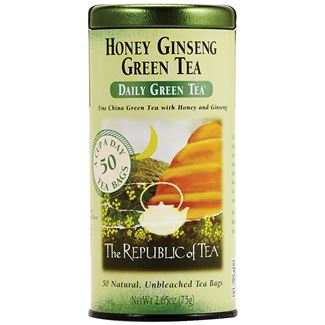 Image For Republic of Tea - Green Tea - Honey Ginseng