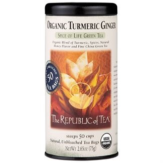 Image For Republic of Tea - Green Tea - Organic Turmeric Ginger