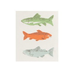 Image For Now Designs – Dish Towel – Swedish Sponge - Gone Fishing