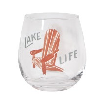 Image For Now Designs – Wine Glass – Lake Life