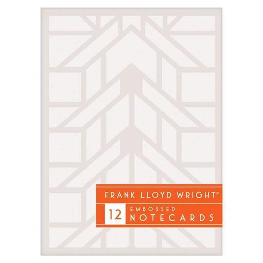 Image For Hachette – Embossed Notecards – Frank Lloyd Wright
