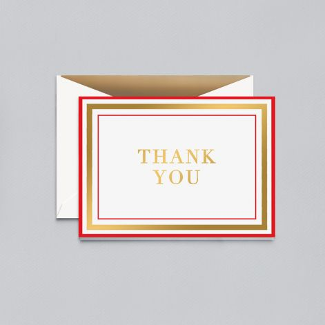 Cover Image For Crane & Co. – Notecards – Candy Stripe – Thank You