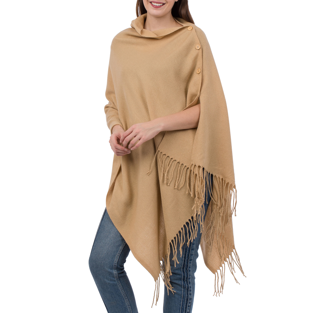 Image For Top it Off - Wrap - Camel